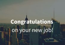 good luck in your new job messages