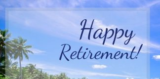 happy retirement image for colleague