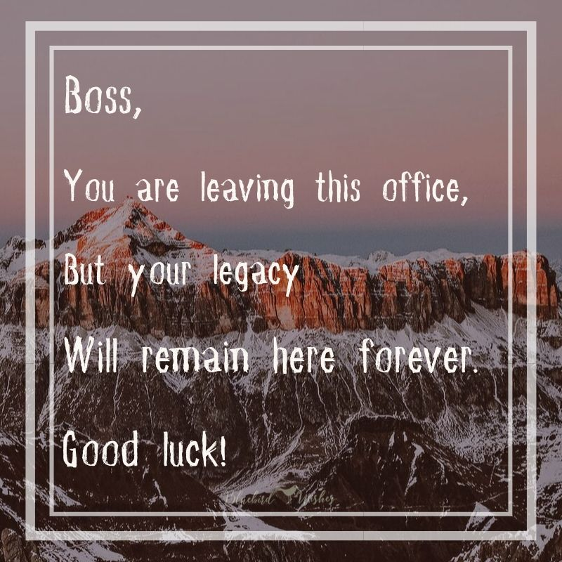 Farewell words for boss farewell wishes for boss Farewell wishes for boss Farewell words for boss