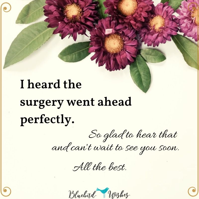 greeting card after surgery wishes to get well after surgery Wishes to get well after surgery greeting card after surgery