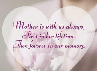 Condolence words on death of mom