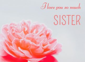 Nice messages about sisters