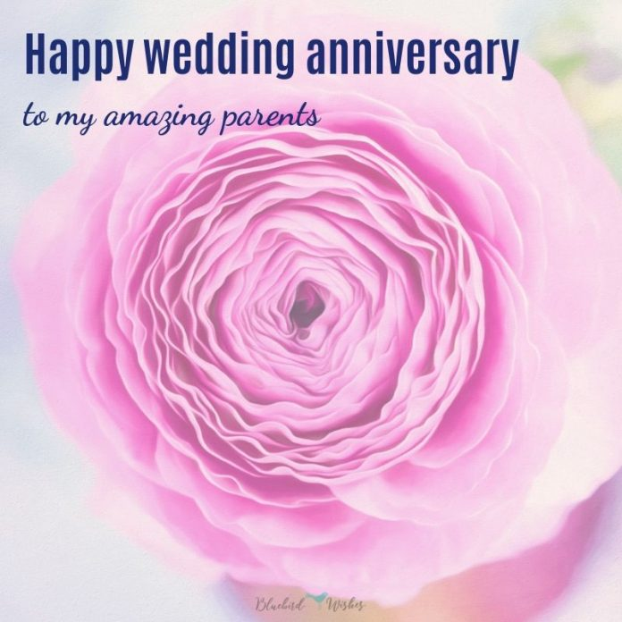 Wedding anniversary messages for parents