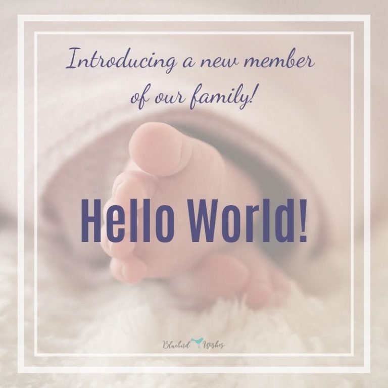 Birth announcement wordings