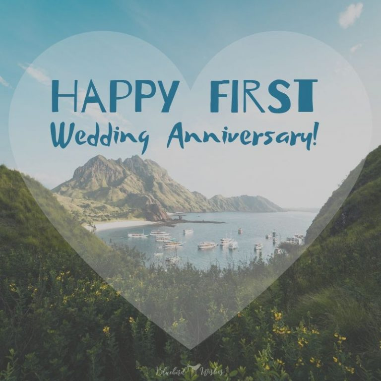 1st wedding anniversary greetings for friends
