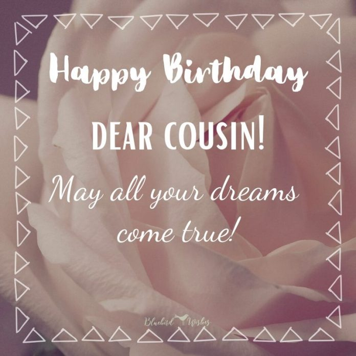birthday card for cousin sister