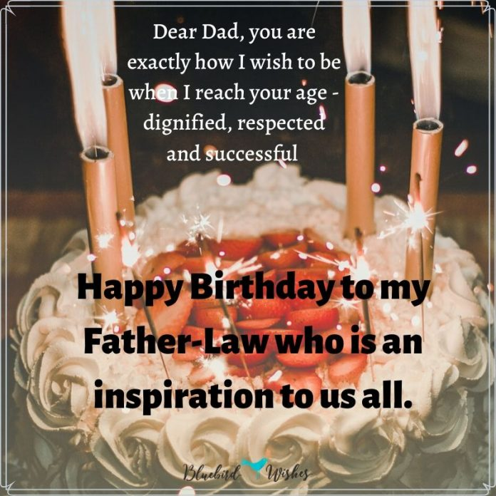 Happy birthday messages for father-in-law