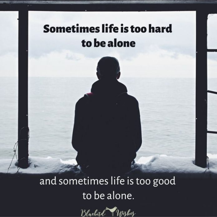 feeling alone sayings