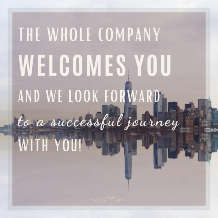 welcome words for new employees