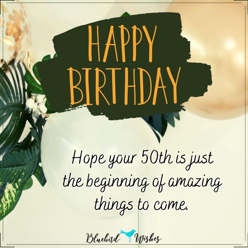 inspiring 50th birthday card happy 50th birthday Happy 50th birthday wishes inspiring 50th birthday card