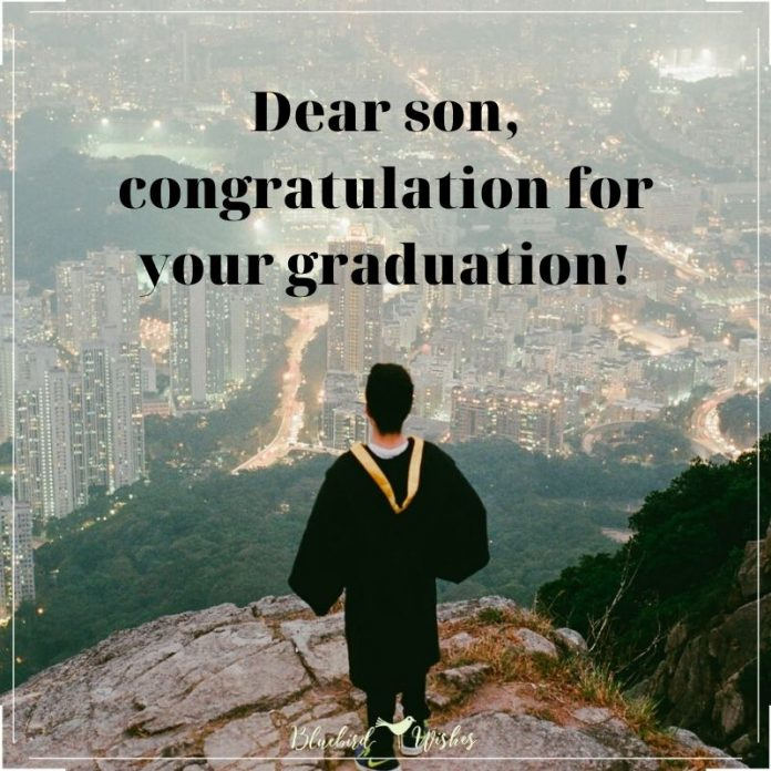 graduation words for son