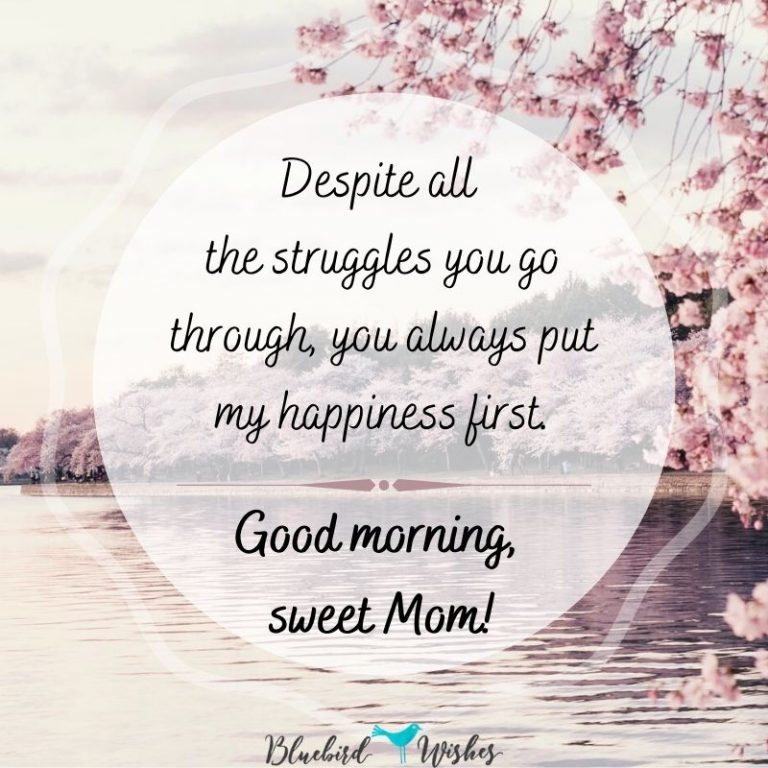 Good morning wishes for mom