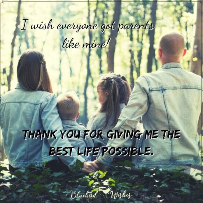 Thank you words for parents
