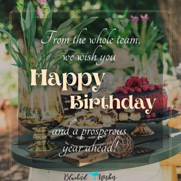 birthday greetings for employee