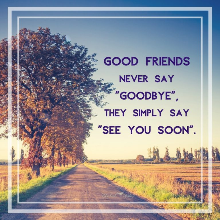 Nice goodbye wishes to friends